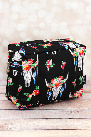 Free Spirit Steer Cosmetic Case