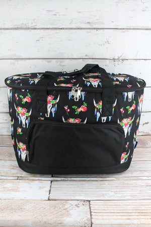 Free Spirit Steer and Black Cooler Tote with Lid