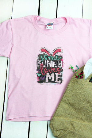 Some Bunny Loves Me Dri-Power Youth 50/50 T-Shirt
