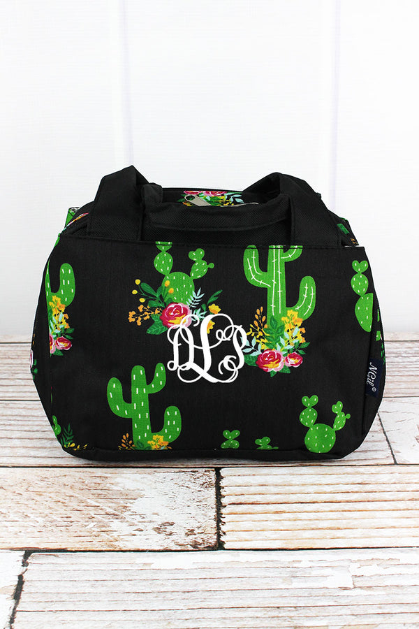 Cactus Garden Insulated Bowler Style Lunch Bag