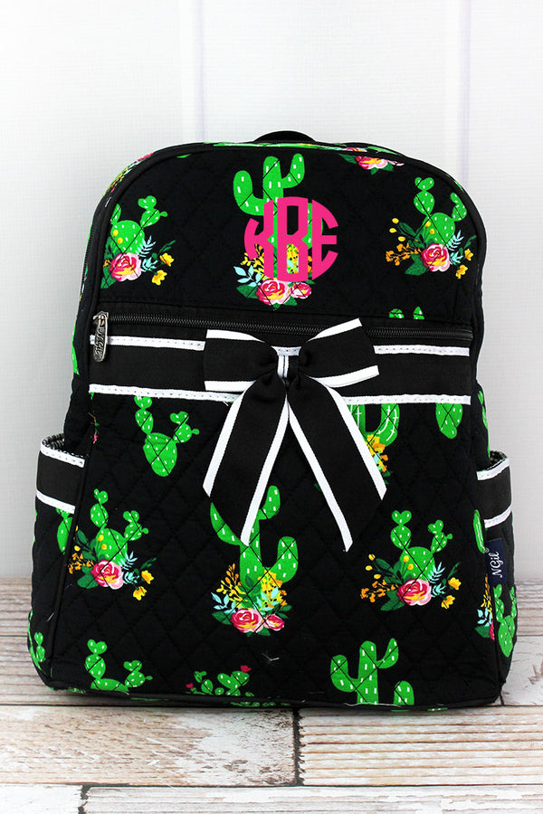 Cactus Garden Quilted Backpack