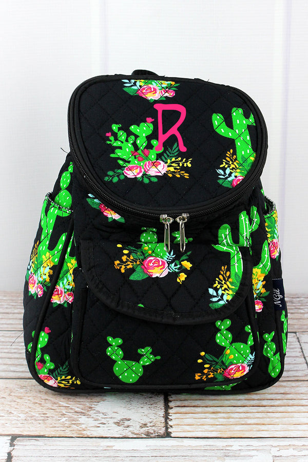 Cactus Garden Quilted Petite Backpack
