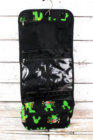 Cactus Garden Roll Up Cosmetic Bag