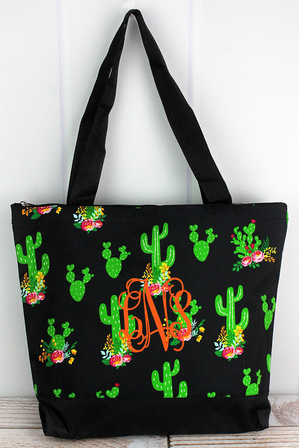 Cactus Garden with Black Trim Tote Bag