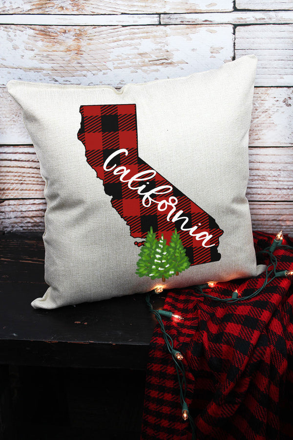Plaid California Decorative Pillow Cover
