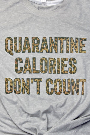Quarantine Calories Don't Count Melange Jersey Tee