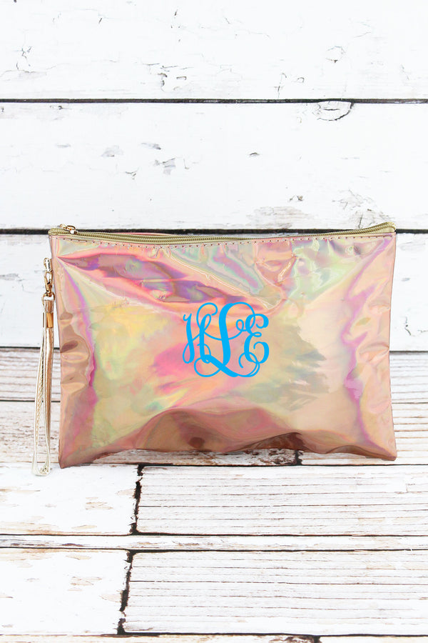 Iridescent Gold Cosmetic Pouch