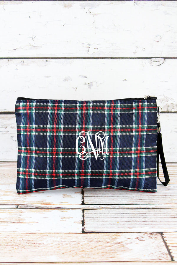 Navy Tartan Cosmetic Pouch
