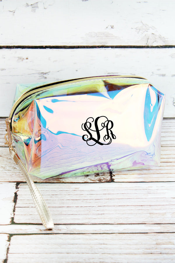 Iridescent Clear Cosmetic Bag