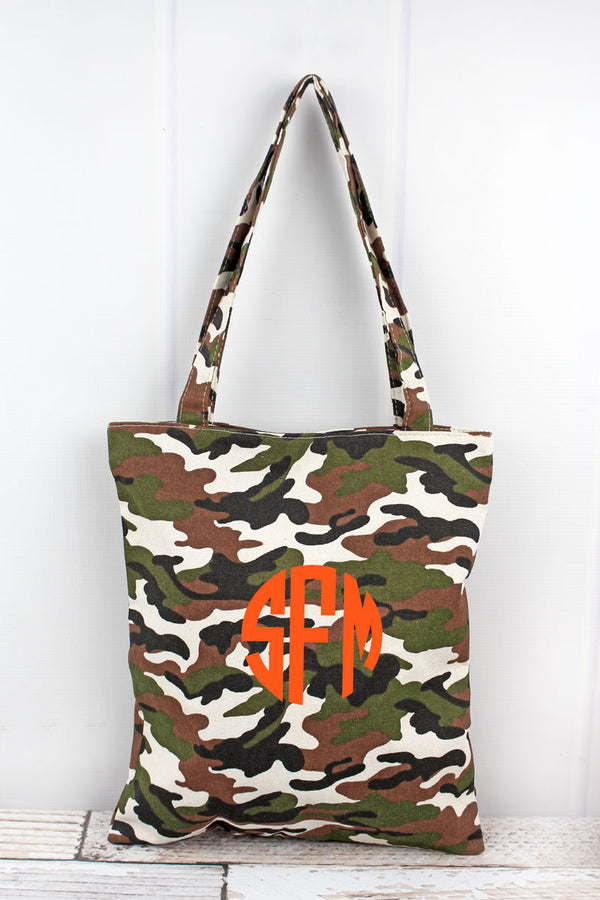 Army Camo Canvas Tote