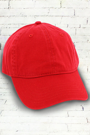 Red Comfort Colors Dyed Canvas Baseball Cap