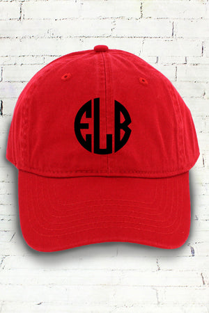 Red Comfort Colors Dyed Canvas Baseball Cap #CC0103