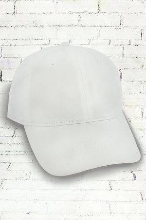 White Comfort Colors Dyed Canvas Baseball Cap