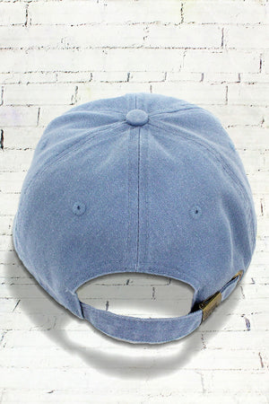 Blue Jean Comfort Colors Pigment Dyed Canvas Baseball Cap