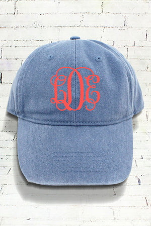 Blue Jean Comfort Colors Pigment Dyed Canvas Baseball Cap #CC0104