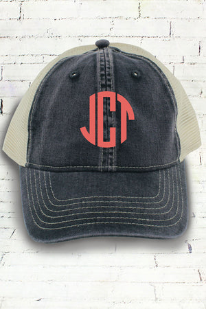 Graphite and Ivory Comfort Colors Unstructured Trucker Cap #CC0105