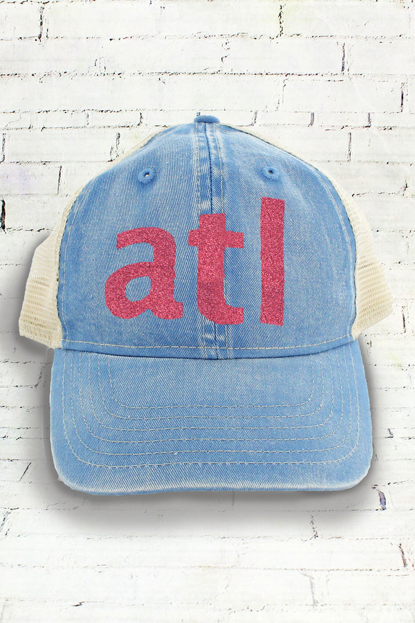 School or City Text Comfort Colors Unstructured Trucker Cap *Personalize Your Text and Colors