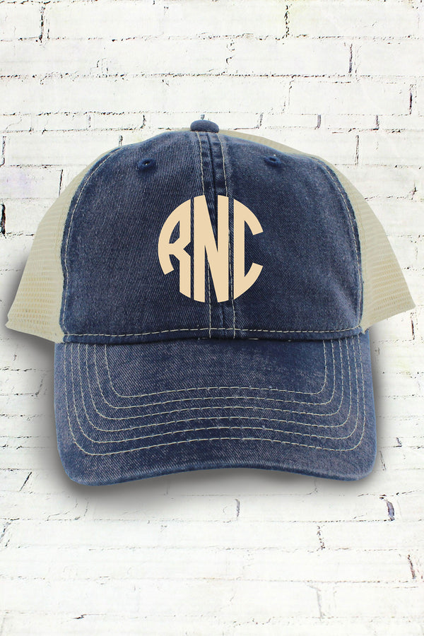 True Navy and Ivory Comfort Colors Unstructured Trucker Cap #CC0105