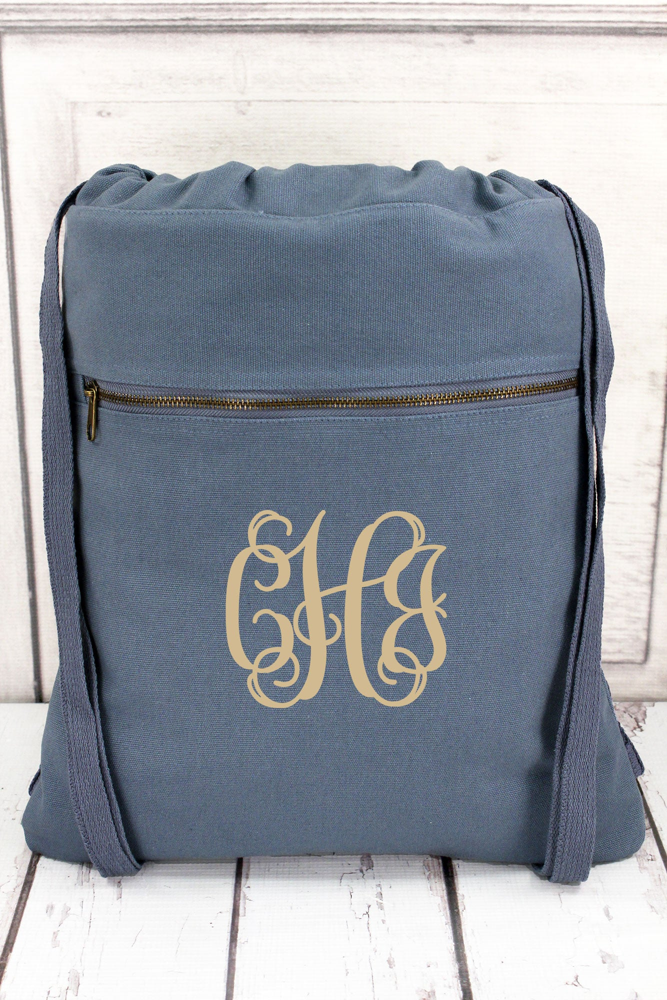 Blue Jean Comfort Colors Canvas Drawstring Backpack  CC0342  1aef9066c1ad