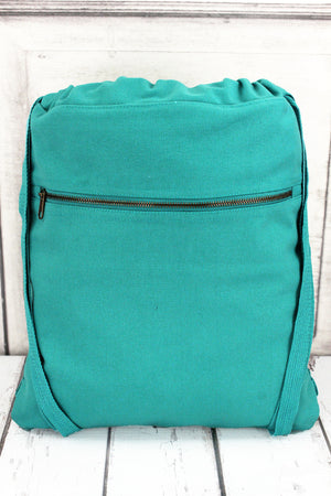 Seafoam Comfort Colors Canvas Drawstring Backpack