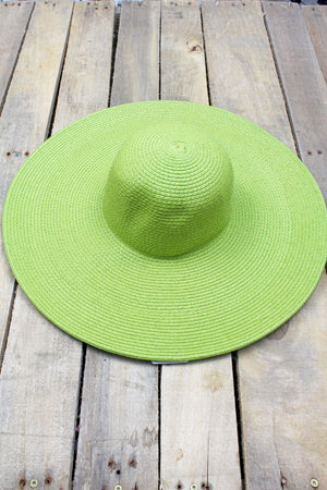 Florida Fun Floppy Sun Hat, Green