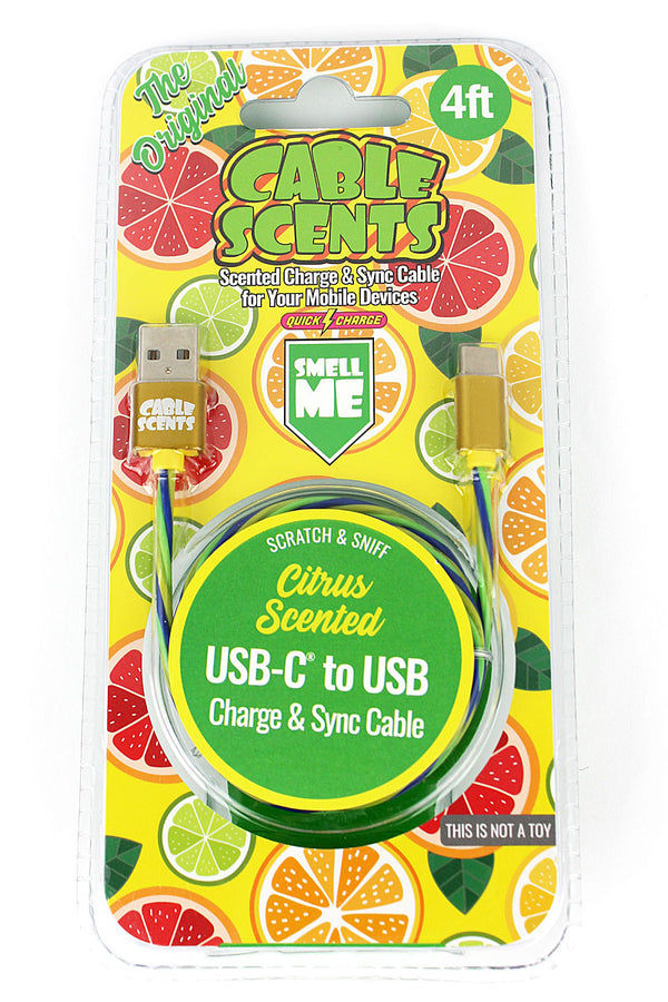 Cable Scents Citrus USB-C to USB Charge & Sync Cable