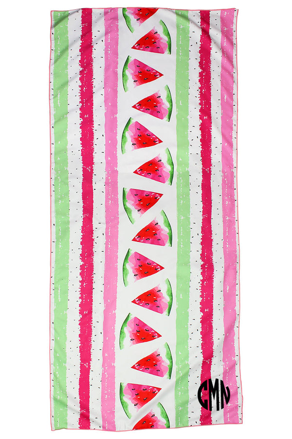 Watermelon Microfiber Beach Towel Mat in Pouch