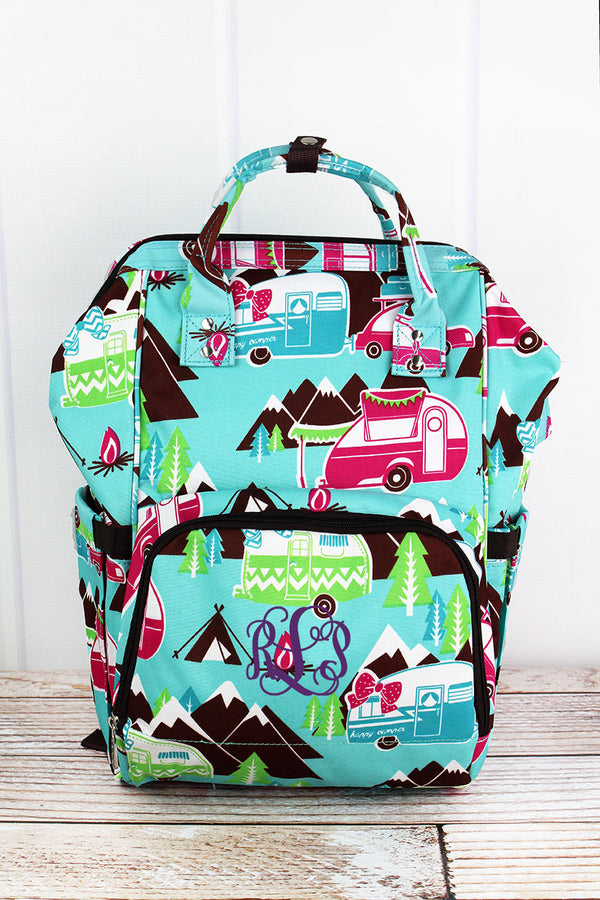 Happy Camper Diaper Bag Backpack