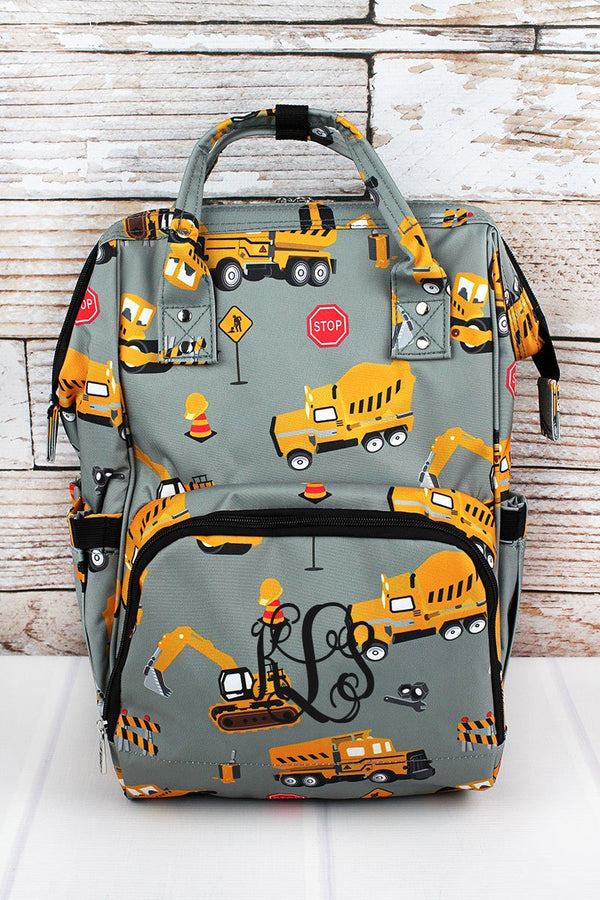 Construction Yard Diaper Bag Backpack