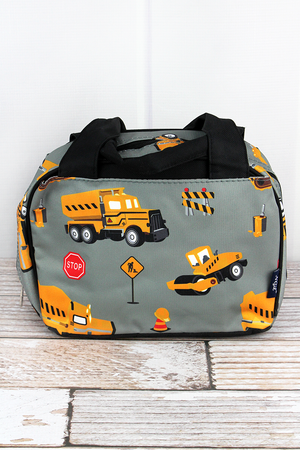 Construction Yard Insulated Bowler Style Lunch Bag