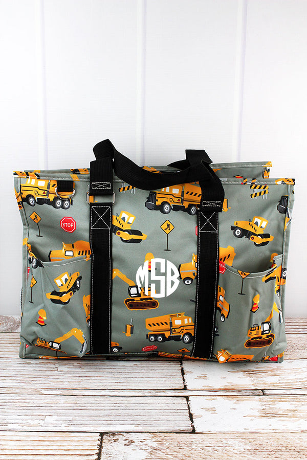 Construction Yard with Black Trim Large Organizer Tote
