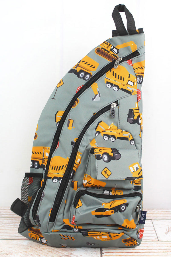 Construction Yard Sling Backpack