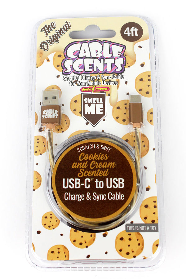 Cable Scents Cookies and Cream USB-C to USB Charge & Sync Cable