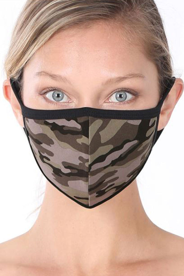 Army Camouflage Two-Layer Fashion Face Mask