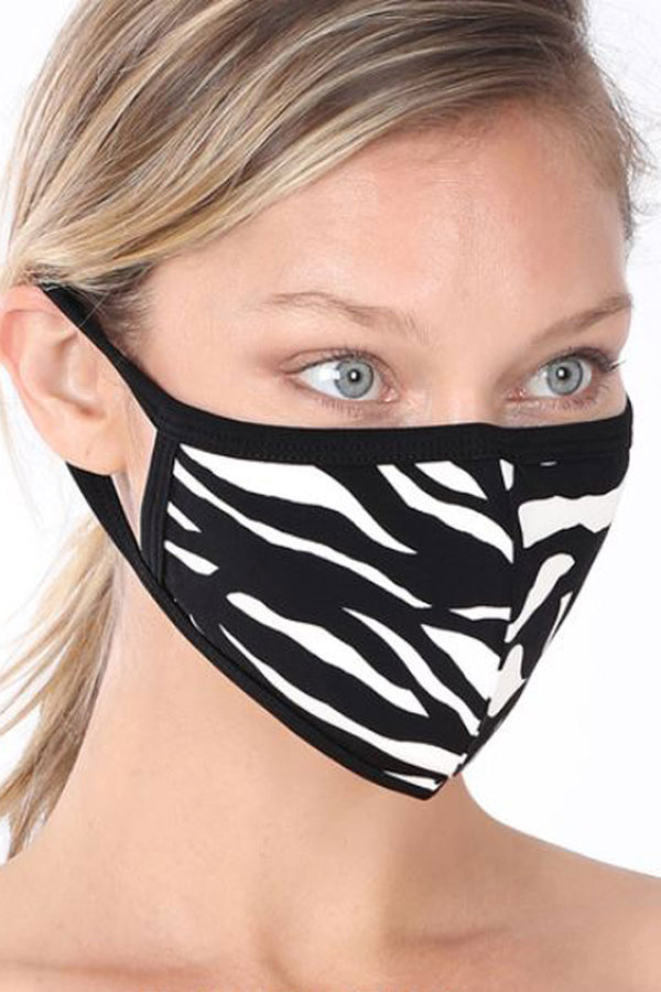 Zebra Two-Layer Fashion Face Mask