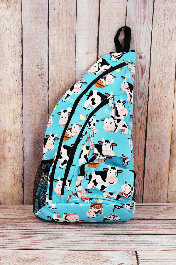 Udderly Cute Cows Sling Backpack