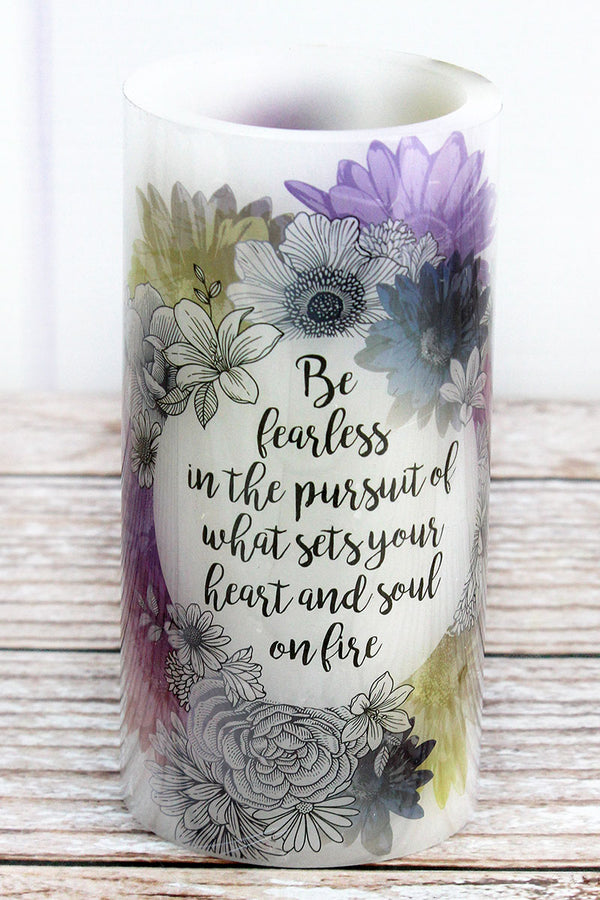 6 x 3 'Be Fearless' Garden Party LED Candle