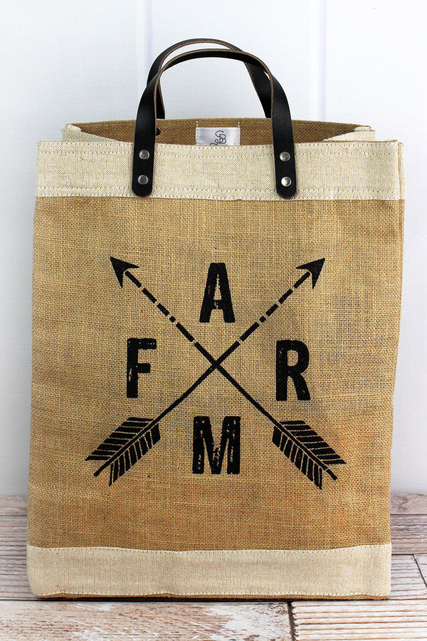 Farm Arrows Jute Market Tote
