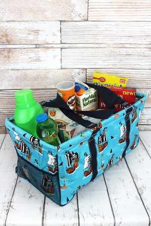 A Pirate's Life For Me Collapsible Haul-It-All Basket with Mesh Pockets
