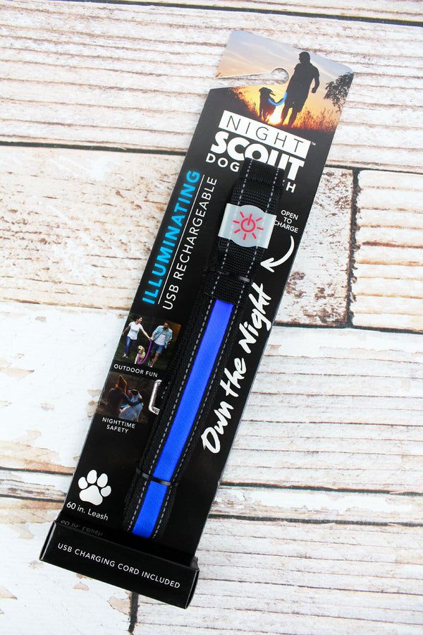 Black and Blue Illuminating Dog Leash