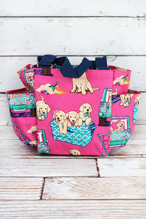 Dog Days of Summer Organizer Tote
