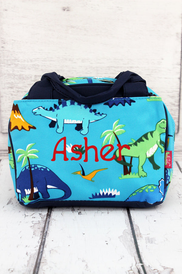 Dinosaur World Insulated Bowler Style Lunch Bag #DIN255-NAVY