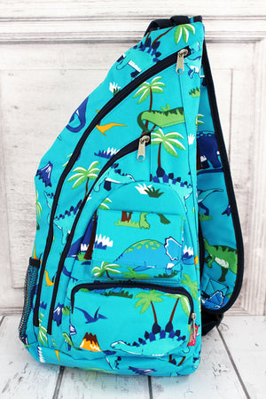 Dinosaur World Sling Backpack #DIN736-NAVY
