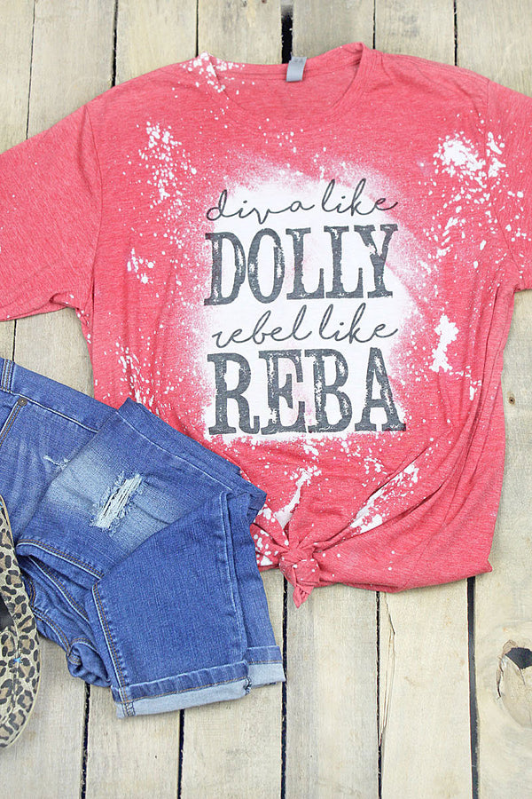 Bleached Diva Like Dolly Poly/Cotton Tee