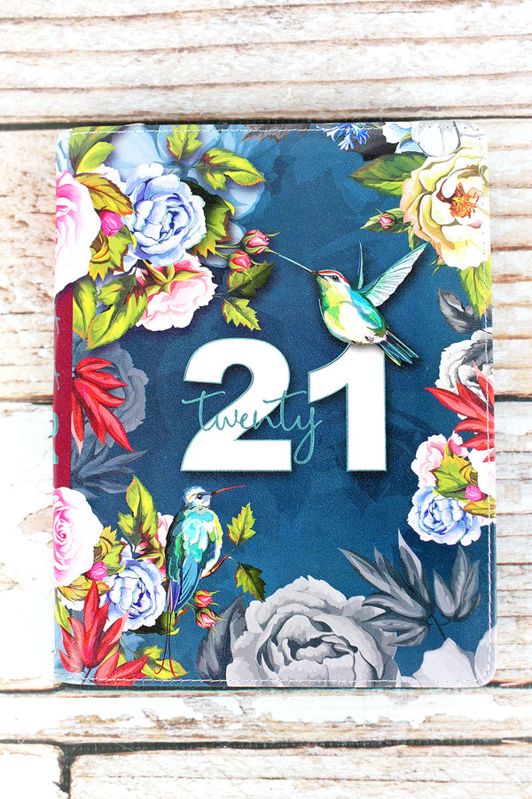 2021 Hummingbird Garden Zippered Daily Planner