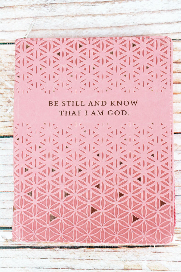 2021 'Be Still' LuxLeather Zippered 18 Month Daily Planner