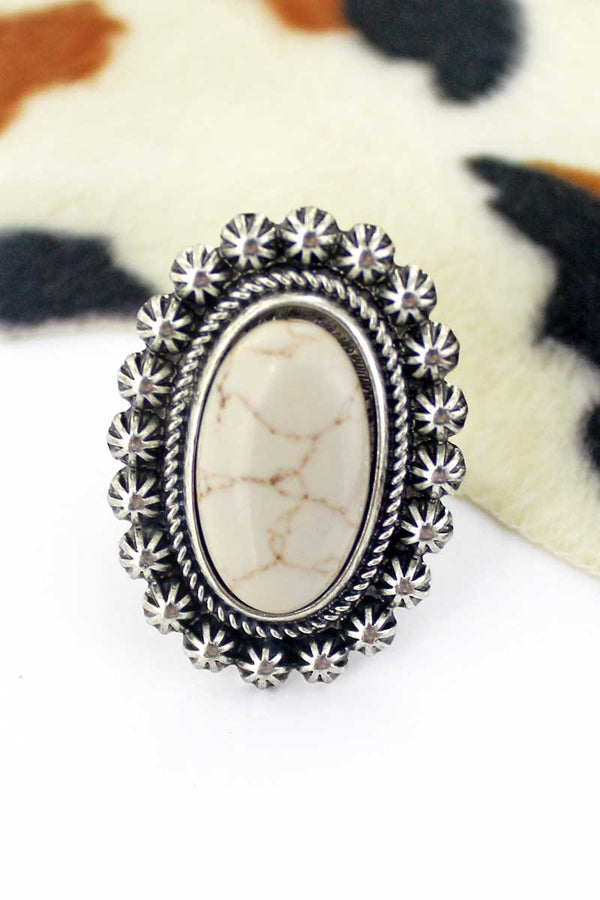Bellflower Natural Oval Ring