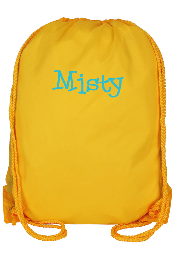 Golden Yellow Drawstring Backpack #8881-GLDYELLOW