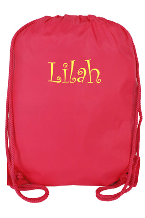 Hot Pink Drawstring Backpack #8881-HOTPINK