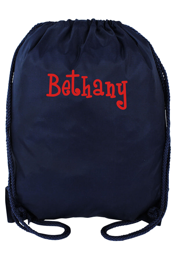 Navy Blue Drawstring Backpack #8881-NAVY